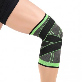 Pelindung Lutut Knee Support Compression Sport Fitness Size M - Green - 2