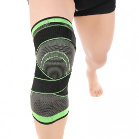 Pelindung Lutut Knee Support Compression Sport Fitness Size M - Green - 3