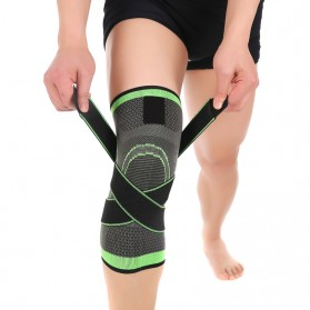 Pelindung Lutut Knee Support Compression Sport Fitness Size M - Green - 4