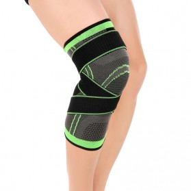 Pelindung Lutut Knee Support Compression Sport Fitness Size M - Green - 5