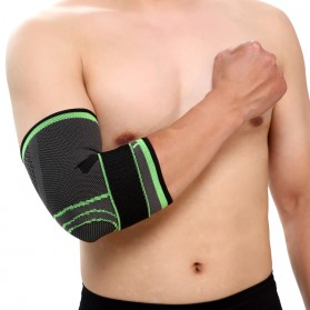 Pelindung Lutut Knee Support Compression Sport Fitness Size M - Green - 8