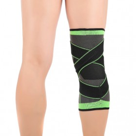 Pelindung Lutut Knee Support Compression Sport Fitness Size XL - Green