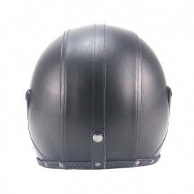Helm Classic Mod Half Face Motor Klasik - Size L - Black - 3
