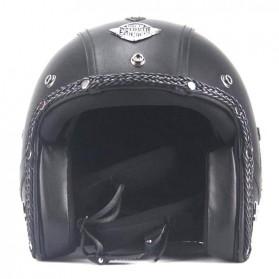 Helm Classic Mod Half Face Motor Klasik - Size L - Black - 4