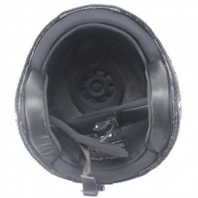 Helm Classic Mod Half Face Motor Klasik - Size L - Black - 5