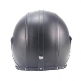 Helm Classic Mod Half Face Motor Klasik - Size XL - Black - 3