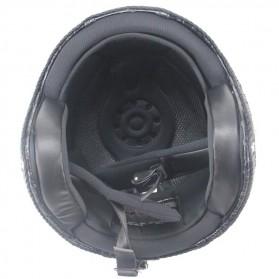 Helm Classic Mod Half Face Motor Klasik - Size XL - Black - 5