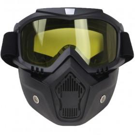 TaffSPORT BOLLFO Kacamata Goggles Mask Motor Retro Anti Glare Windproof - MT-04 - Black/Yellow