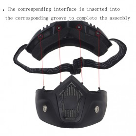 TaffSPORT BOLLFO Kacamata Goggles Mask Motor Retro Anti Glare Windproof - MT-04 - Black/Yellow - 5