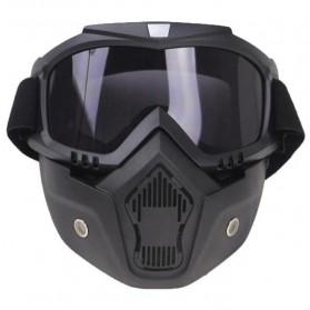 TaffSPORT BOLLFO Kacamata Goggles Mask Motor Retro Anti Glare Windproof - MT-04 - Black/Brown