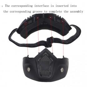 TaffSPORT BOLLFO Kacamata Goggles Mask Motor Retro Anti Glare Windproof - MT-04 - Black/Brown - 5