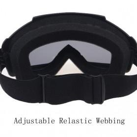 TaffSPORT BOLLFO Kacamata Goggles Mask Motor Retro Anti Glare Windproof - MT-04 - Black/Brown - 8