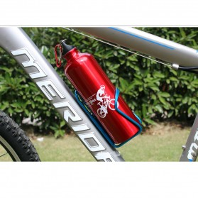 TaffSPORT Holder Botol Minum Sepeda Aluminium - YWPJ029-F - Black - 6