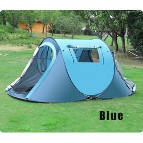 Tenda Camping Outdoor Adventure Speed Open 3-4 Orang - KK021 - Blue