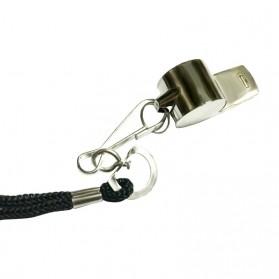 Peluit Wasit Classic Bahan Metal Whistle dengan Lanyard - Silver - 2