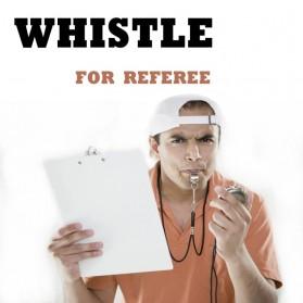 Peluit Wasit Classic Bahan Metal Whistle dengan Lanyard - Silver - 3