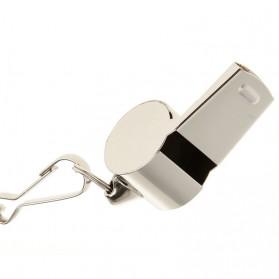 Peluit Wasit Classic Bahan Metal Whistle dengan Lanyard - Silver - 5