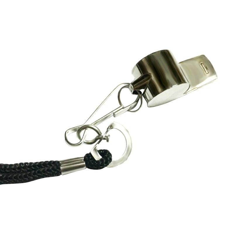 Peluit Wasit Classic Bahan Metal Whistle dengan Lanyard