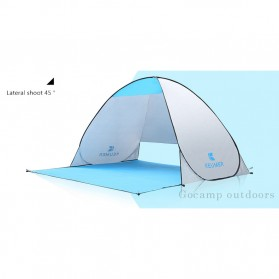 Keumer Tenda Camping Automatic Open Anti UV Shelter - ZP03 - Gray - 7