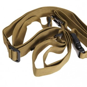 Sling Strap Senjata Airsoft Hunting Belt Tactical Military - Black - 4