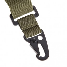 Sling Strap Senjata Airsoft Hunting Belt Tactical Military - Black - 6