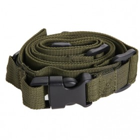 Sling Strap Senjata Airsoft Hunting Belt Tactical Military - Black - 7