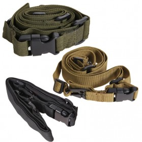 Sling Strap Senjata Airsoft Hunting Belt Tactical Military - Black - 8