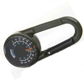 Carabiner Multifungsi dengan Kompas Thermometer - D12605 - Army Green