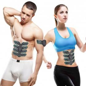 Alat Stimulator Otot Six Pack EMS Trainer ABS Abdominal Muscle - Black - 4