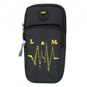 Techwill L&M Tas Lari Sport Running Armband Waterproof - X0008 - Black