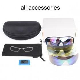 POC Kacamata Sepeda Polarized Sunglasses UV400 dengan 5 Lensa - TR-90 - Black - 2