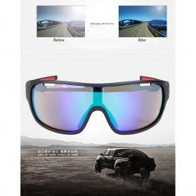 POC Kacamata Sepeda Polarized Sunglasses UV400 dengan 5 Lensa - TR-90 - Black - 5