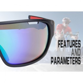 POC Kacamata Sepeda Polarized Sunglasses UV400 dengan 5 Lensa - TR-90 - Black - 7