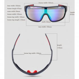 POC Kacamata Sepeda Polarized Sunglasses UV400 dengan 5 Lensa - TR-90 - Black - 8