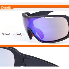 POC Kacamata Sepeda Polarized Sunglasses UV400 dengan 5 Lensa - TR-90 - Black - 9
