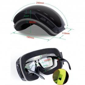 Kacamata Goggles Ski Outdoor Dustproof UV Protection - H018 - Silver - 4