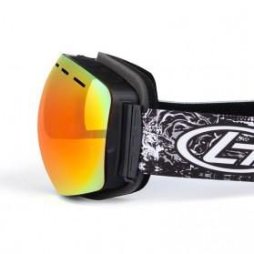 Kacamata Goggles Ski Outdoor Dustproof UV Protection - H018 - Silver - 5