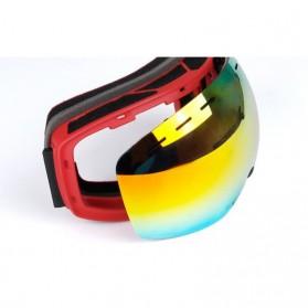 Kacamata Goggles Ski Outdoor Dustproof UV Protection - H018 - Silver - 7