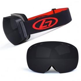 Kacamata Goggles Ski Outdoor Dustproof UV Protection - H018 - Black