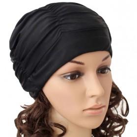 GaoJiYongMao Topi Penutup Kepala Renang Wanita Swim Cap - 1GF - Black - 1