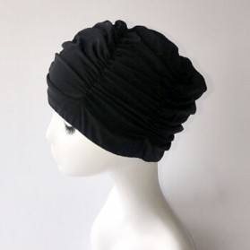 GaoJiYongMao Topi Penutup Kepala Renang Wanita Swim Cap - 1GF - Black - 2
