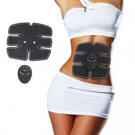 Alat Stimulator EMS Otot Six Pack Abdominal Muscle Exercise - 008 - Black