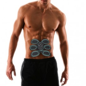 Alat Stimulator EMS Otot Six Pack Abdominal Muscle Exercise - 008 - Black - 4