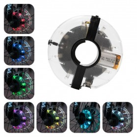 Lampu LED Roda Sepeda RGB Colorful 18 Pattern Bike Light - yq8003 - Multi-Color