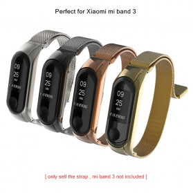 Trendybay Milanese Strap Watchband Stainless Steel for Xiaomi Mi Band 3 - CBXM309 - Black - 3