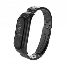 Trendybay Watchband 3 Point Strap Stainless Steel for Xiaomi Mi Band 3 - CBXM315 - Black - 4
