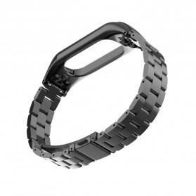 Trendybay Watchband 3 Point Strap Stainless Steel for Xiaomi Mi Band 3 - CBXM315 - Black - 6