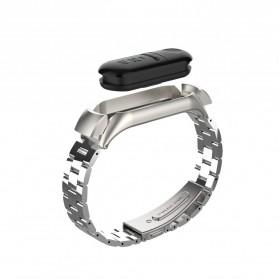 Trendybay Watchband 3 Point Strap Stainless Steel for Xiaomi Mi Band 3 - CBXM315 - Black - 7