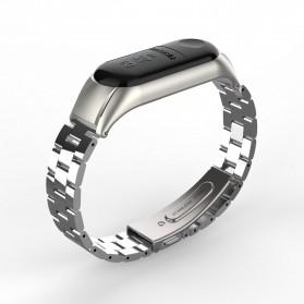 Trendybay Watchband 3 Point Strap Stainless Steel for Xiaomi Mi Band 3 - CBXM315 - Black - 8