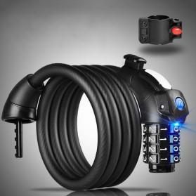 Gembok Sepeda Kombinasi Angka 4 Digit LED Light Anti-Theft Chain Lock - TY-732 - Black - 2